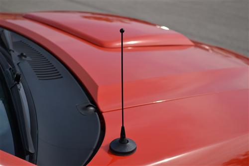 "79-09 MUSTANG SVE BLACK 8"" SHORTY ANTENNA MAST"