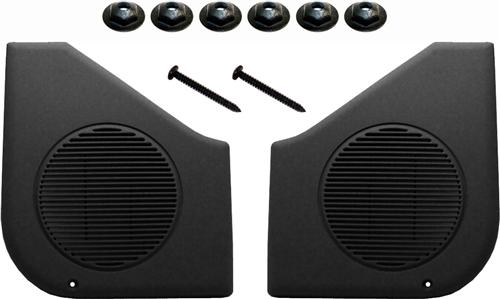 87-93 MUSTANG BLACK DOOR SPEAKER GRILLE KIT