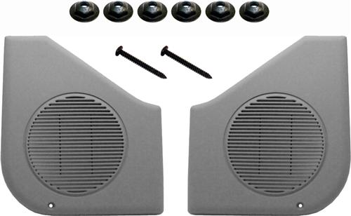 Mustang Door Speaker Grille Kit Smoke Gray (87-93)