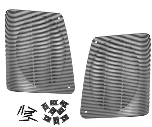 Mustang Hatch Speaker Grille Kit Smoke Gray (87-93) - Picture of Mustang Hatch Speaker Grille Kit Smoke Gray (87-93)