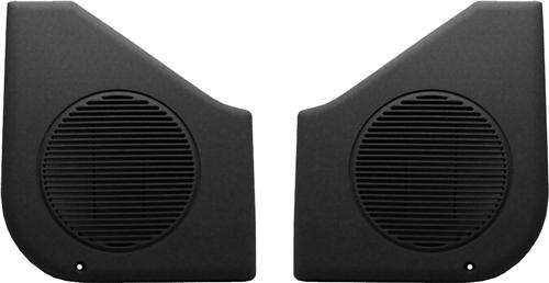 87-93 MUSTANG BLACK DOOR SPEAKER GRILLES, SOLD AS PAIR