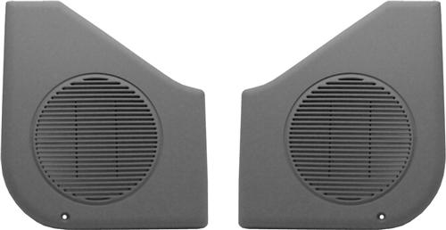87-93 MUSTANG SMOKE GRAY DOOR SPEAKER GRILLES, SOLD AS PAIR