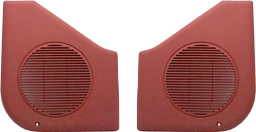87-93 MUSTANG SCARLET RED DOOR SPEAKER GRILLES, SOLD AS PAIR