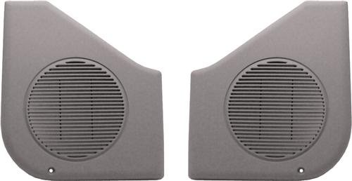 Mustang Door Speaker Grilles, Sold As Pair Titanium Gray (87-93)