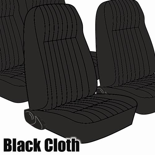 TMI Mustang Seat Upholstery Black Cloth (1983) L Coupe High