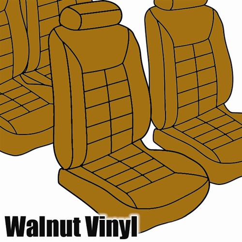 TMI Mustang Seat Upholstery Walnut Vinyl (1983) Convertible