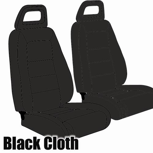 TMI Mustang Sport Seat Upholstery Black Cloth (1983) Convertible