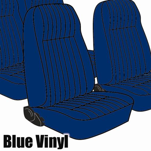 TMI Mustang Seat Upholstery Academy Blue Vinyl (1983) L Hatchback High