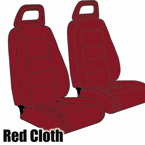TMI Mustang Sport Seat Upholstery Medium Red Cloth (1983) Hatchback