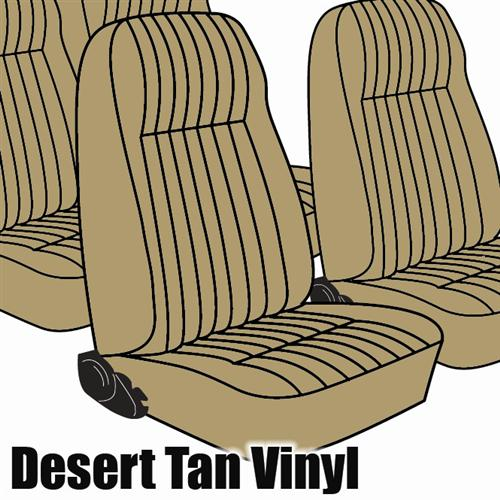 TMI Mustang Seat Upholstery Desert Tan Vinyl (1984) L Coupe