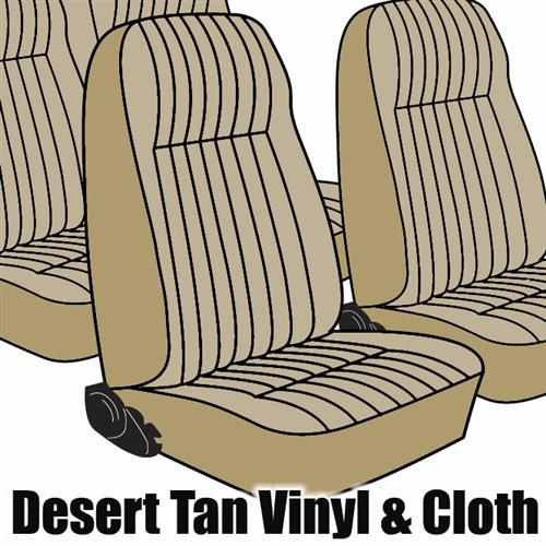 TMI Mustang Seat Upholstery Desert Tan Cloth (1984) L Coupe