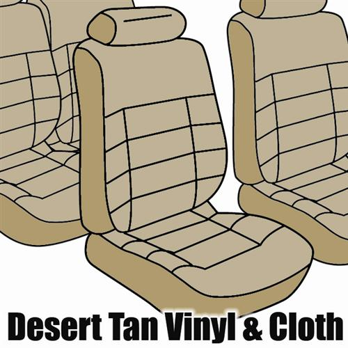 TMI Mustang Seat Upholstery Desert tan Cloth (1984) Coupe