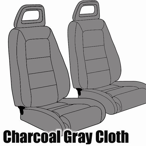 TMI Mustang Sport Seat Upholstery Charcoal Grat (1984) Convertible