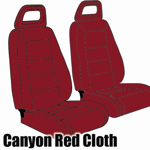 TMI Mustang Sport Seat Upholstery Canyon Red Cloth (1984) Convertible