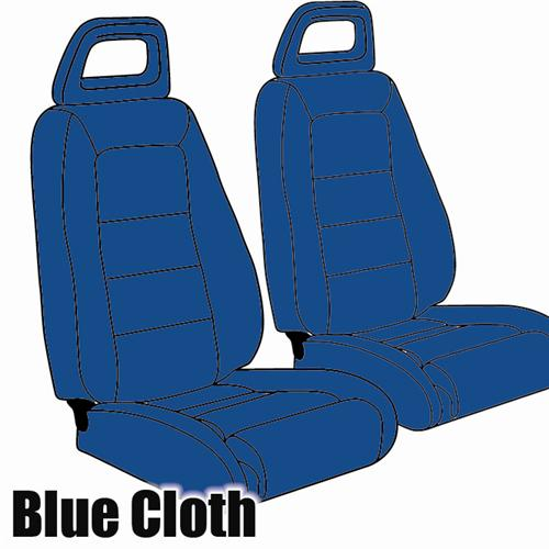 TMI Mustang Sport Seat Upholstery Academy Blue Cloth (1984) Convertible