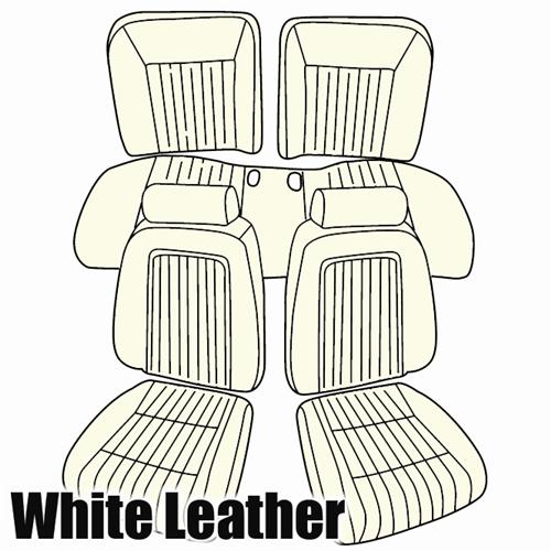 TMI Mustang Sport Seat Upholstery Oxford White Leather (1992) GT Convertible