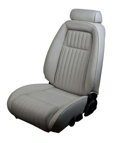 TMI Mustang Sport Seat Upholstery Opal Gray Leather (1993) Hatchback