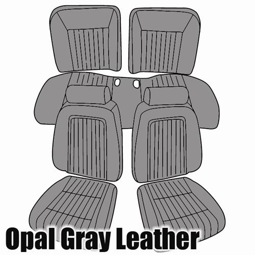 TMI Mustang Sport Seat Upholstery Opal Gray (1993) Convertible