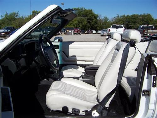 TMI Mustang Sport Seat Upholstery White Leather (1993) Limited Edition Convertible