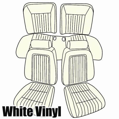 TMI Mustang Sport Seat Upholstery White Vinyl (1993) Limited Edition Convertible