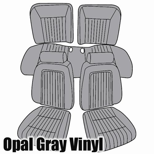TMI Mustang Sport Seat Upholstery Opal Gray Vinyl (1993) Hatchback