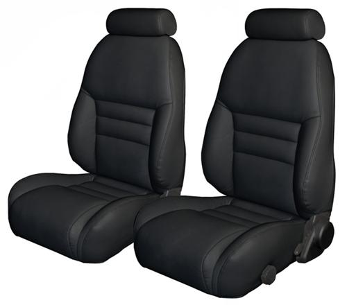 TMI Mustang Sport Seat Upholstery Black Leather (1997) Coupe