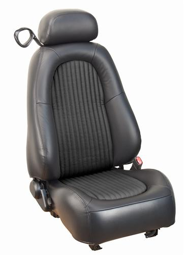 Mustang Bullit Seat Upholstery Dark Charcoal Leather (2001)