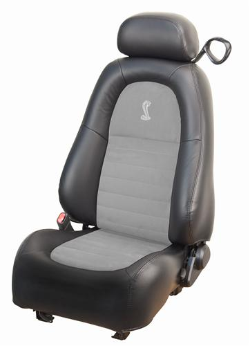 Mustang Cobra Leather Seat Upholstery Dark Charcoal/Med Graphite (2001) Coupe