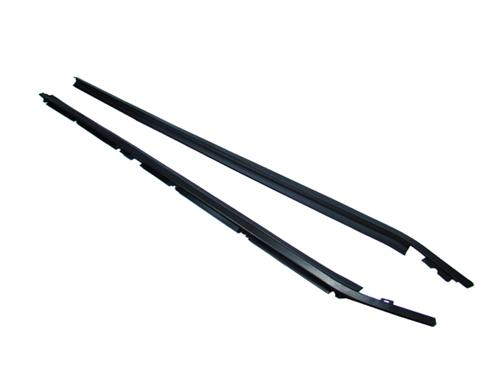 79-86 MUSTANG OUTER DOOR BELT WEATHERSTRIP PAIR, BLACK TRIM