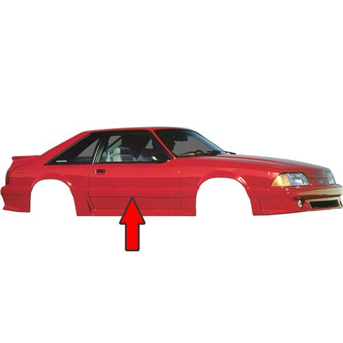 Mustang Door Body Side Molding, RH (87-93) GT-Cobra