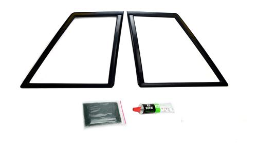 1987-93 Mustang Coupe Quarter Window Covers, Pair