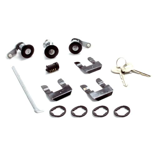 Mustang Mustang Lock Set with Black Bezel (87-93) - Mustang Mustang Lock Set with Black Bezel (87-93)