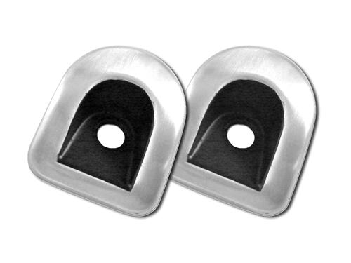 Mustang Door Lock Knob Bezels Brushed Aluminum (05-14)