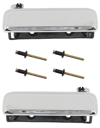 79-93 MUSTANG CHROME OUTER DOOR HANDLE KIT