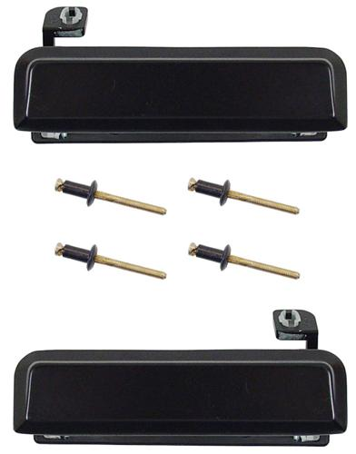 79-93 MUSTANG BLACK OUTER DOOR HANDLE KIT