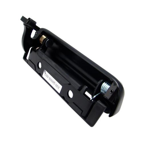 Mustang Outer Door Handle w/ Rivets, LH Black (79-93)