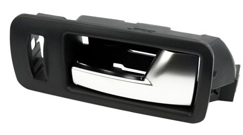 2005-14 Mustang RH Inner Door Handle, Black Bezel with Aluminum Trim - 2005-14 Mustang RH Inner Door Handle, Black Bezel with Aluminum Trim