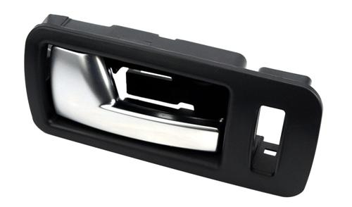 2005-14 Mustang LH Inner Door Handle, Black Bezel with Aluminum Trim