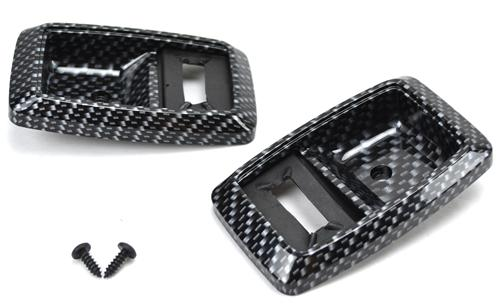 Mustang Inner Door Handle Bezel Kit Carbon Fiber (79-93)