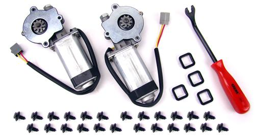 79-93 MUSTANG POWER WINDOW MOTOR KIT FOR COUPE & HATCHBACK