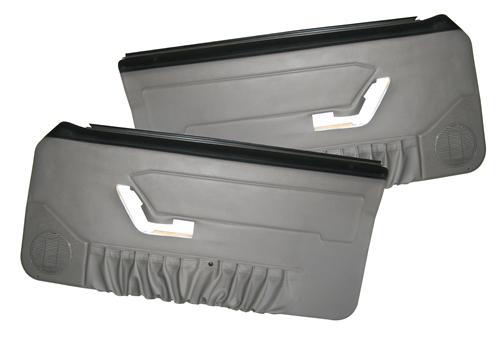 Mustang Deluxe Door Panels for Convertible w/ Power Window Titanium Gray (90-92)