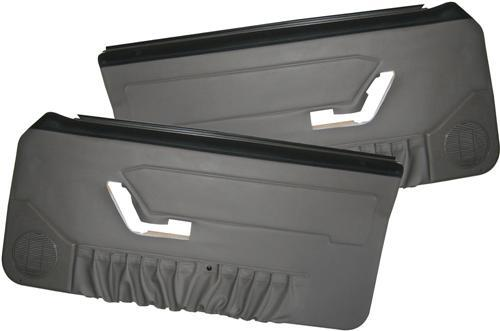 1993 Mustang Opal Gray Door panels for Convertible, with power windows.  Use LRS-23942EM for pics and description, just swap wording for convertible