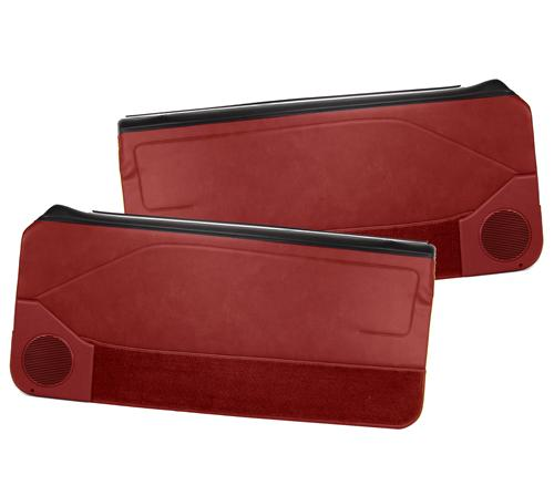 Mustang Deluxe Door Panels for Hardtop w/ Manual Windows Scarlet Red (87-89)