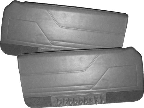 TMI Mustang Deluxe Door Panels for Hardtop w/ Power Windows Charcoal Gray (84-86)
