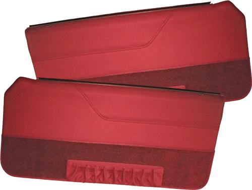 Mustang Deluxe Door Panels for Convertible w/ Power Window Canyon Red (85-86)