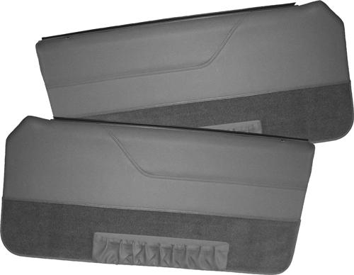 Mustang Deluxe Door Panels for Convertible w/ Power Window Charcoal Gray (85-86)