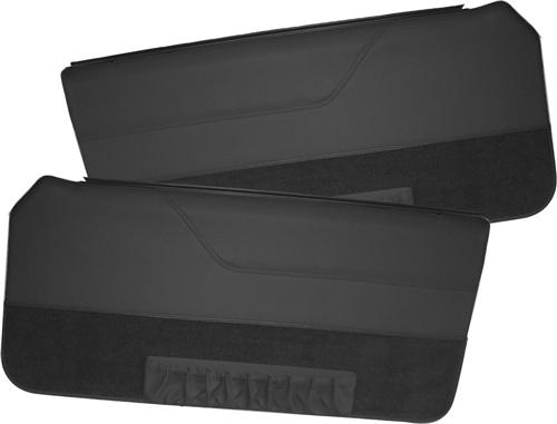 TMI Mustang Deluxe Door Panels for Convertible w/ Power Window Black (85-86)