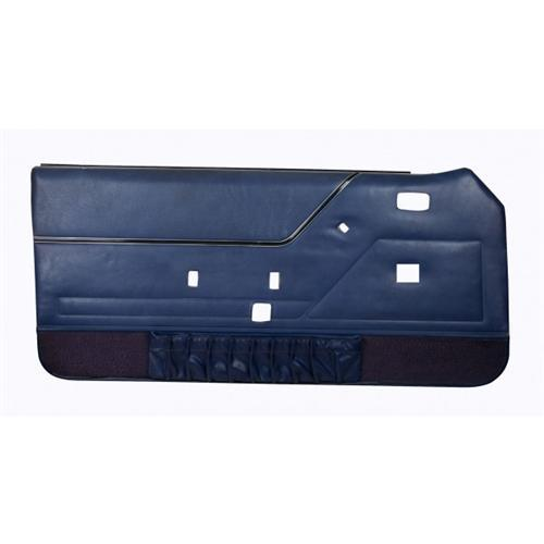 Mustang Deluxe Door Panels for Convertible W/Power Windows Academy Blue (83-84)