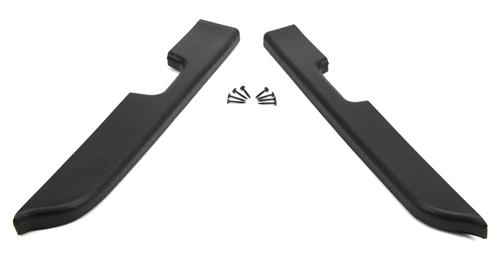 Mustang Door Armrest Pad Kit, Power Windows Black (87-93) - Picture of Mustang Door Armrest Pad Kit, Power Windows Black (87-93)