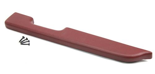 Mustang Door Armrest Pad for Manual Windows, RH Red (87-93)